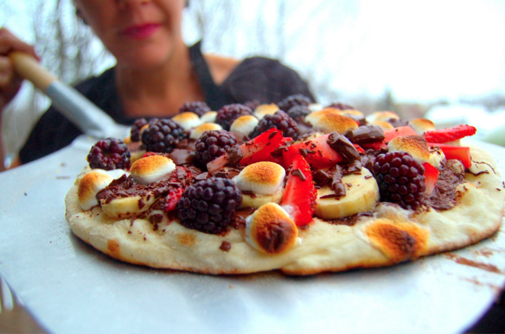 The best Easter BBQ chocolate pizza