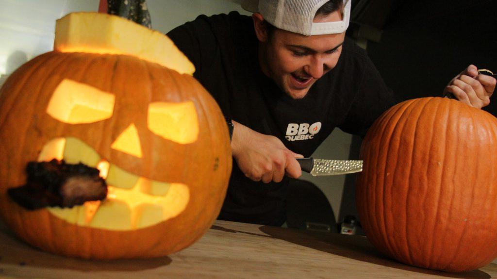 Recipe: Spooky Halloween Pumpkin and Spinach Frittata
