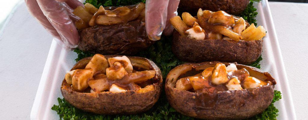 poutine-stuffed potato skins