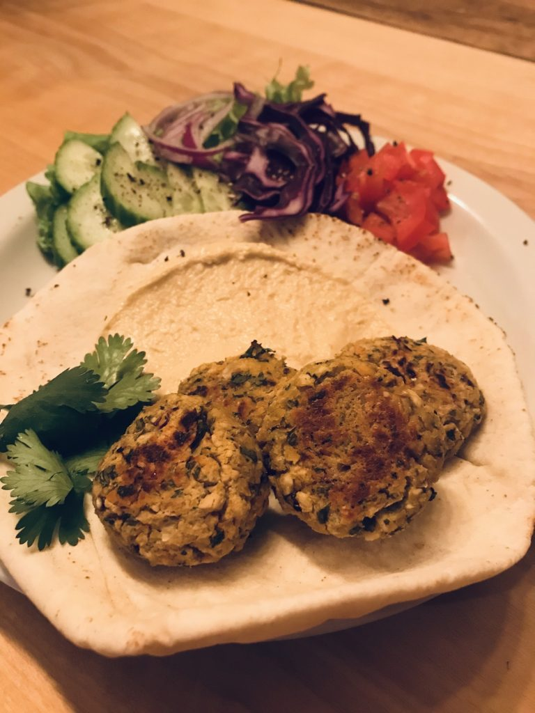 Healthy spicy falafel recipe
