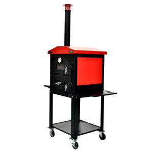 Sunterra Outdoor and Pit Boys BBQ's Wood Outdoor Oven with Cart