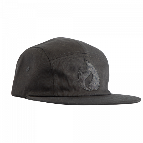 Cap with Black Flame